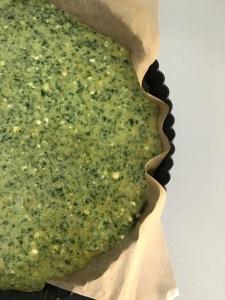 Spinach & feta quiche - ready to cook!